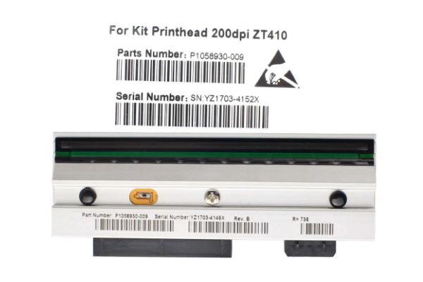 P1058930-009 - Barcode printhead Zebra ZT410 203dpi